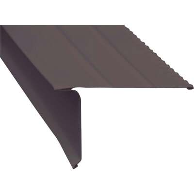Amerimax F5 Aluminum Drip Edge Flashing, Brown