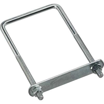National 3/8 In. x 3-5/8 In. x 7 In. Zinc Square U Bolt