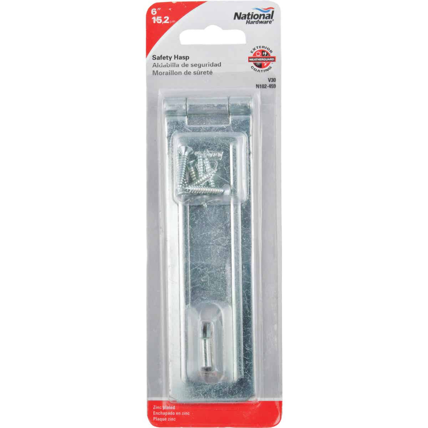 National 6 In. Zinc Non-Swivel Safety Hasp Image 2