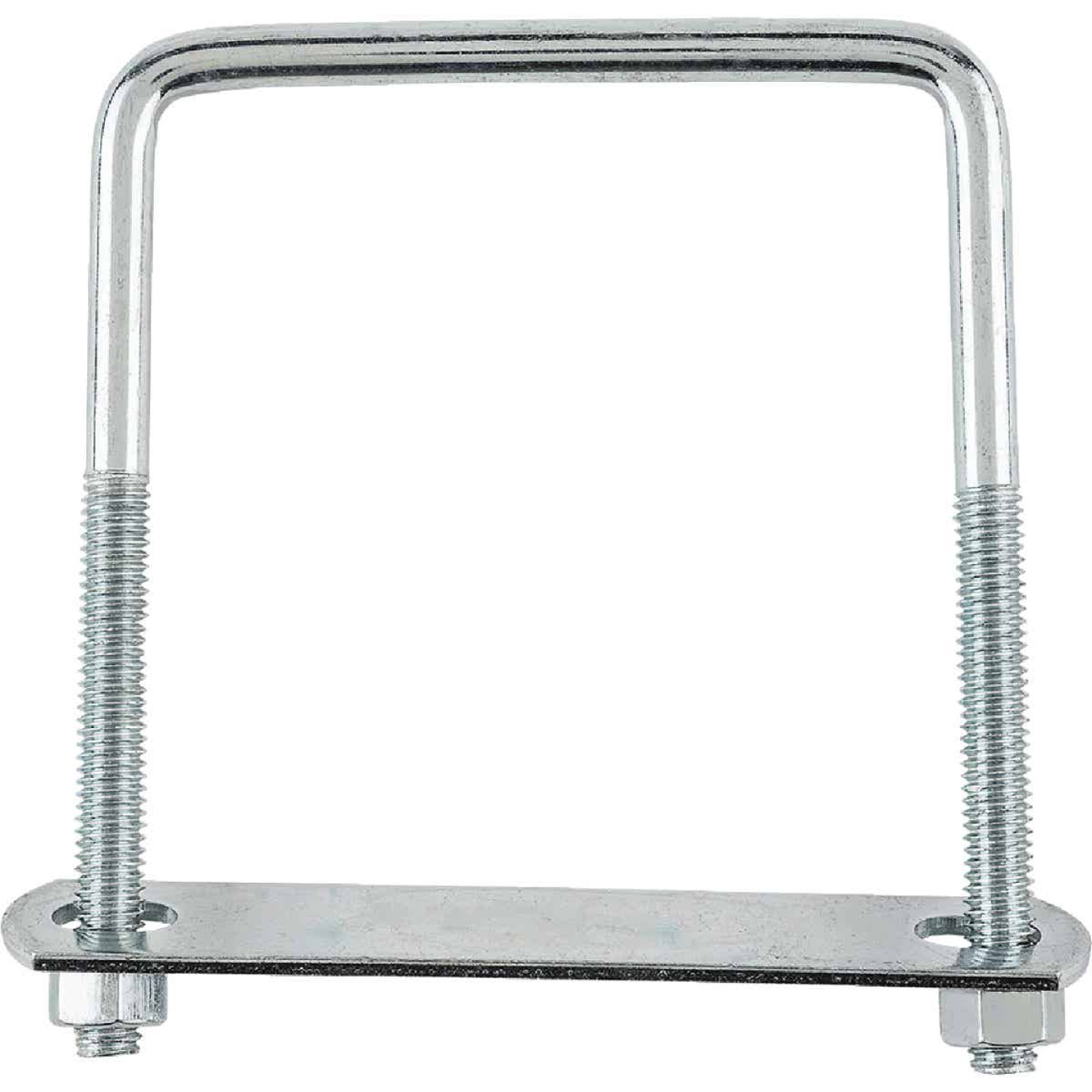 National 3/8 In. x 4 In. x 5 In. Zinc Square U Bolt Image 2