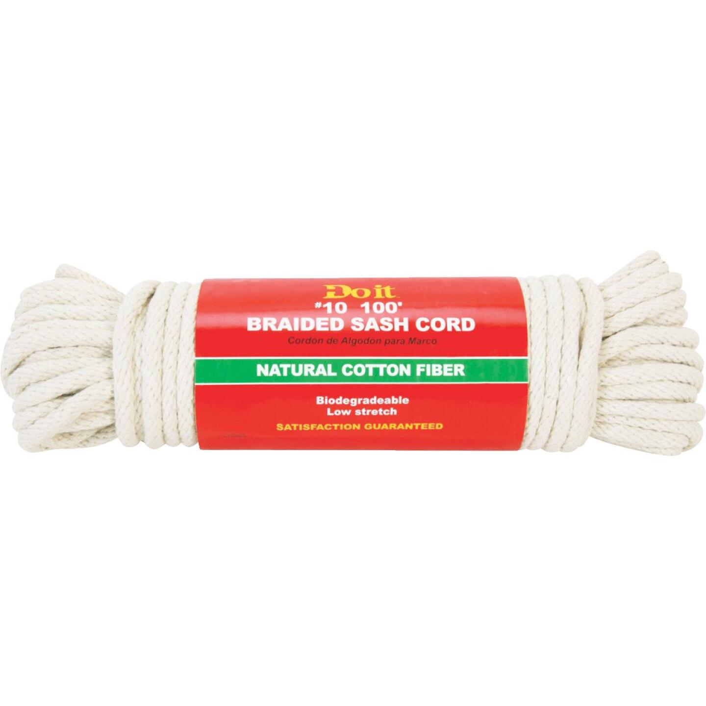 Do it 5/16 In. x 100 Ft. White Solid Braided Cotton Sash Cord Image 1