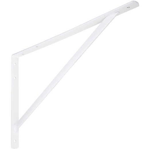 National 111 20 In. White Steel Super Strength Shelf Bracket