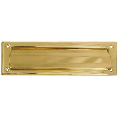 National 2 In. x 11 In. Polished Brass Mail Slot