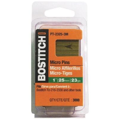 Bostitch 23-Gauge Coated Pin Nail, 1/2 In. (3000 Ct.)