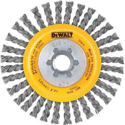DeWalt High Performance 4 In. Carbon Stringer Bead Angle Grinder Wire Wheel