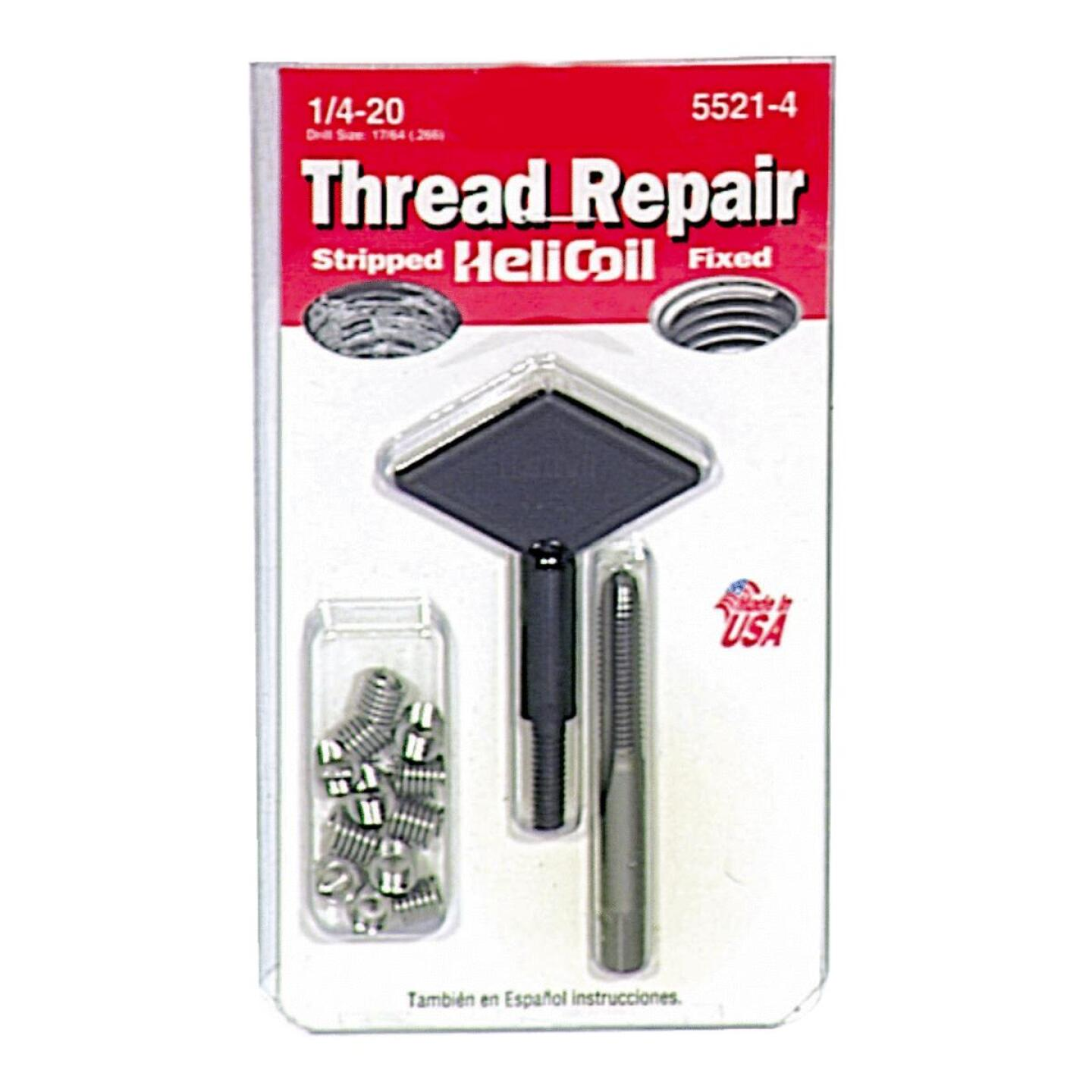 HeliCoil 1/4-20 Stainless Steel Thread Repair Kit Image 1