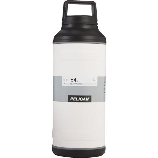 Pelican 64 Oz. White Stainless Steel Travel Bottle