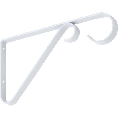 National 6 In. White Steel Hanging Plant Bracket