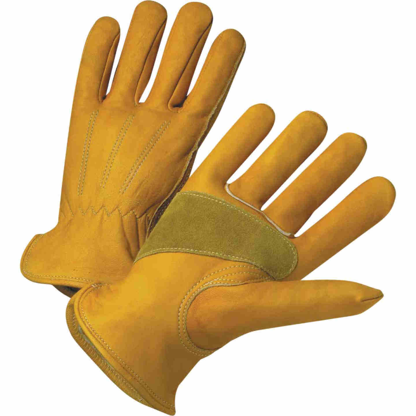 West Chester Protective Gear Men's Small Grain Cowhide Leather Work Glove Image 1