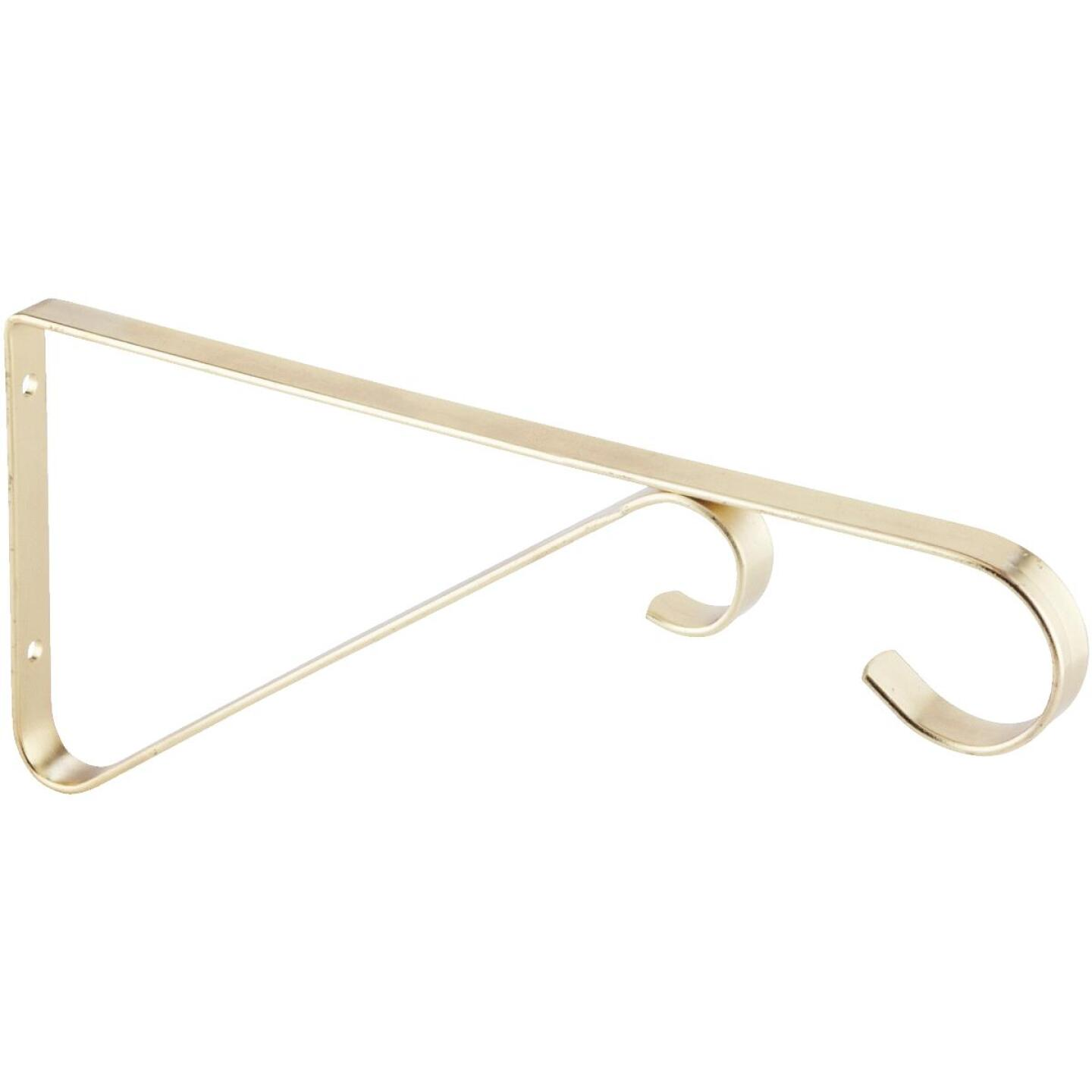 National 6 In. Brass Steel Hanging Plant Bracket Image 3