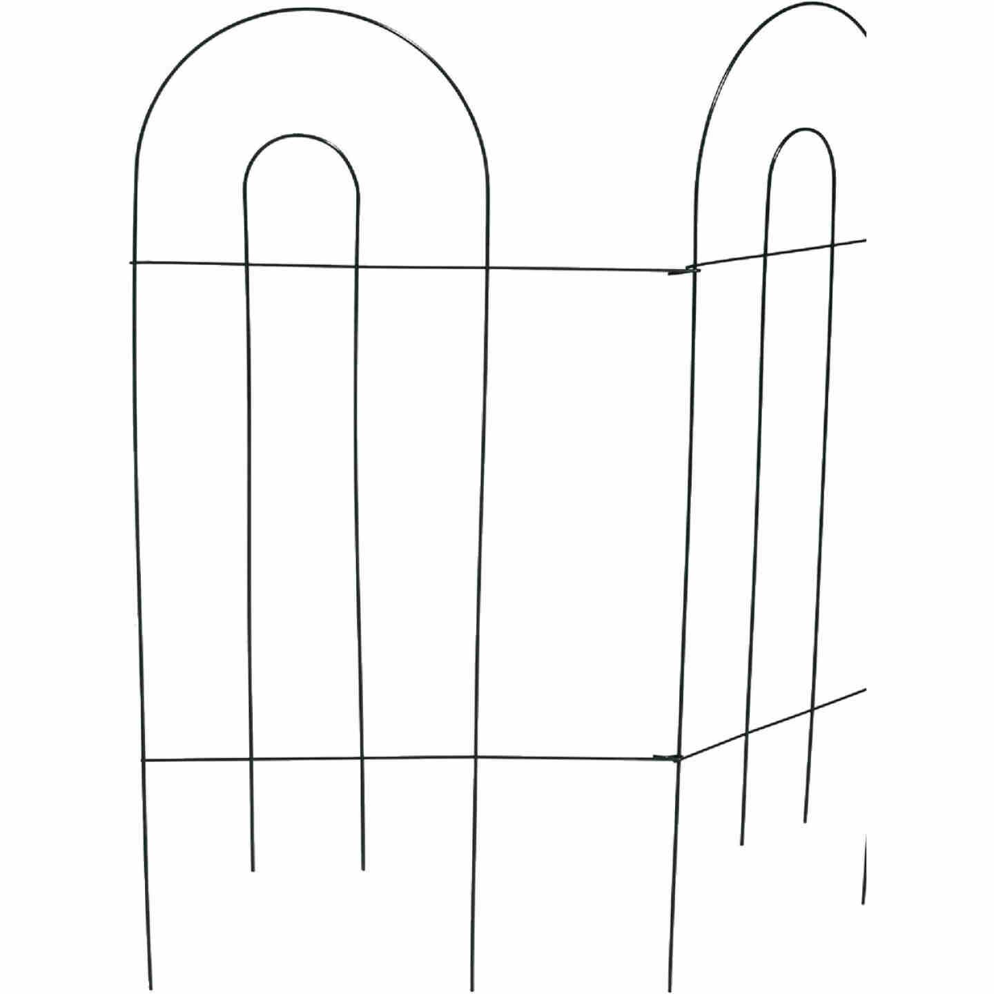 Best Garden 10 Ft. Powder-Coated Green Wire Folding Fence Image 1