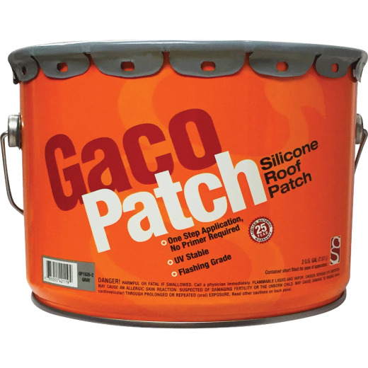 Gaco Western 2 Gal. Gray Silicone Roof Patch