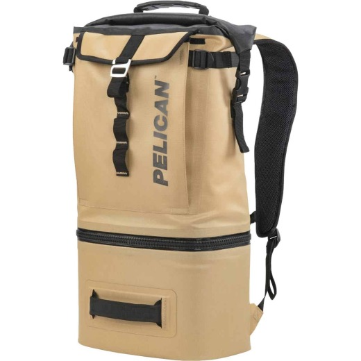 PELICAN Dayventure 6-Can Backpack Soft-Side Cooler, Coyote
