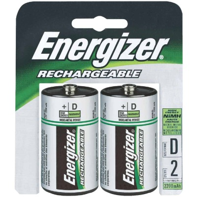 Energizer Recharge D NiMH Rechargeable Battery (2-Pack)
