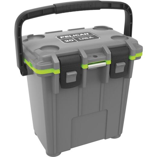 Pelican Elite 20-Qt. Cooler, Dark Gray & Green