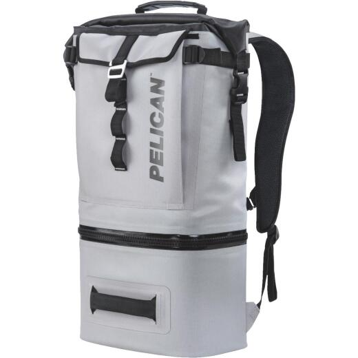 Pelican Dayventure Light Gray Soft-Side Backpack Cooler (6-Can)
