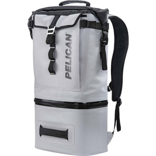 PELICAN Dayventure 6-Can Backpack Soft-Side Cooler, Light Gray