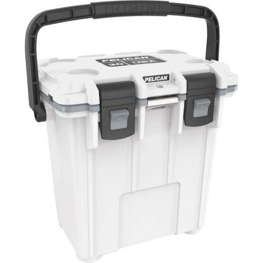 Pelican Elite 20-Qt. Cooler, White & Gray