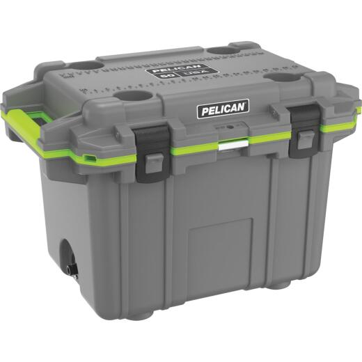 Pelican Elite 50-Qt. Cooler, Dark Gray & Green