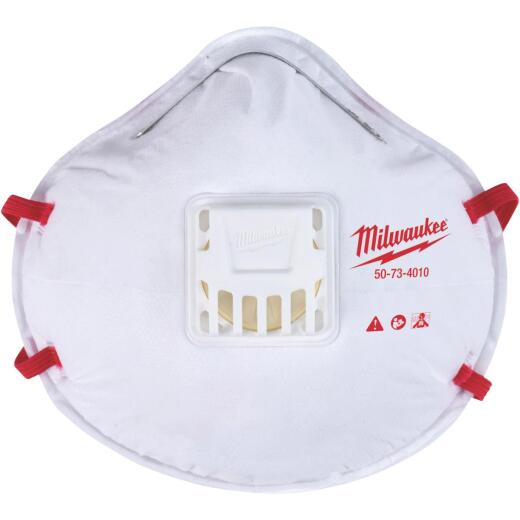 Milwaukee Disposable N95 Valved Respirator (10-Pack)